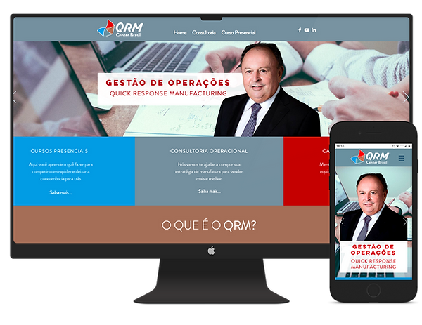 mockup site qrm center brasil