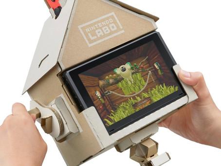 """Nintendo anuncia LABO, uma nova linha de """"faça você mesmo"""" de papelão"""