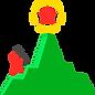ícone objetivo montanha escalada