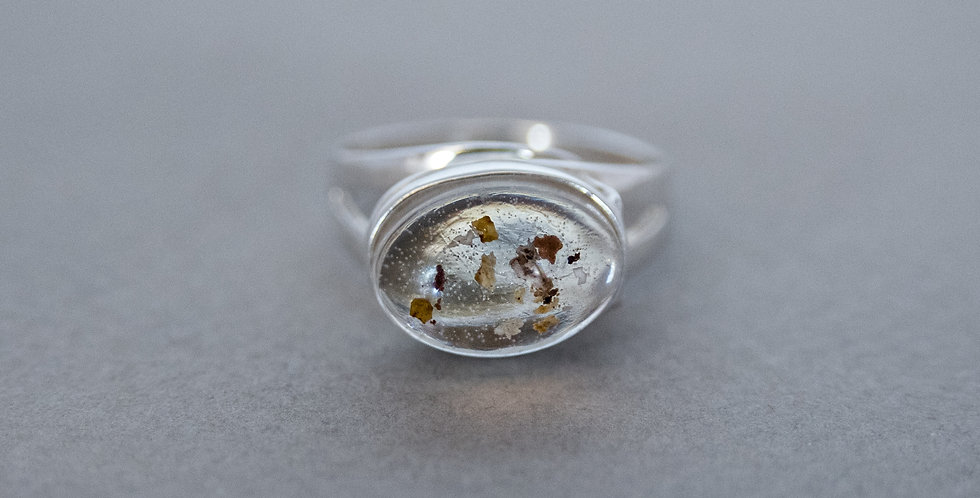 Elevated Oval Ring