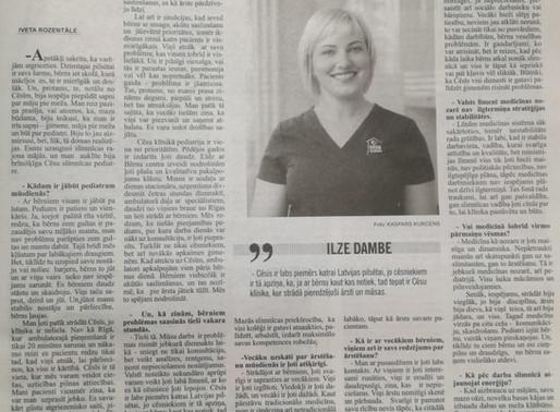 Mediķa portrets: pediatre Ilze Dambe