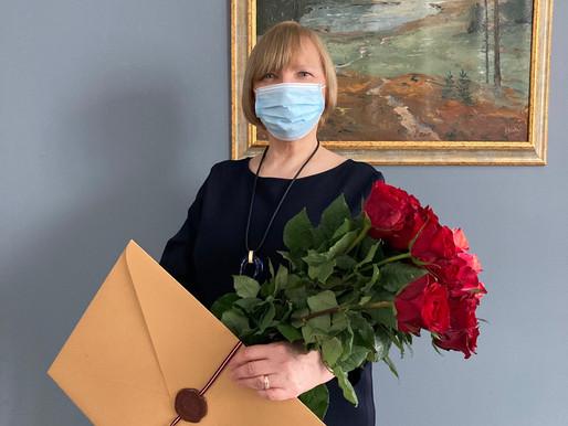 Ārstei Sandrai Ingai Baltrokai pasniegts augstākais Veselības ministrijas apbalvojums