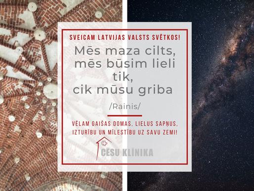 Sveicam Latvijas neatkarības 102. gada dienā!
