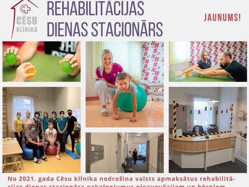 Jauns pakalpojums - rehabilitācijas dienas stacionārs