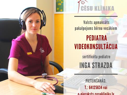 Atsākam nodrošināt bērnu ārsta videokonsultācijas