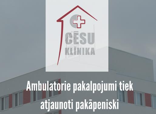 Informācija par ambulatoro pakalpojumu atjaunošanu