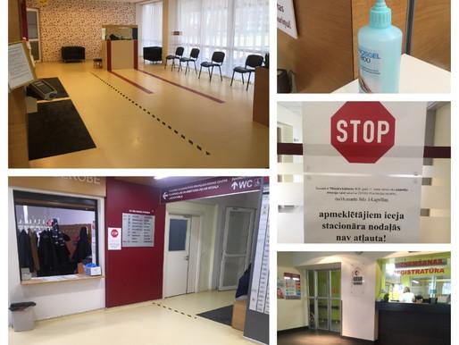 Aktuālā informācija par Cēsu klīnikas preventīviem drošības pasākumiem