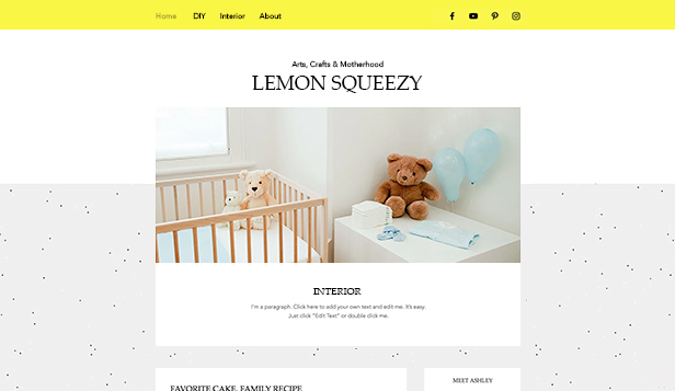 Lifestyle website templates – Crafty Mom Blog