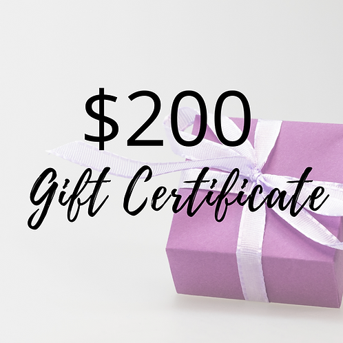 $200 Value Gift Certificate