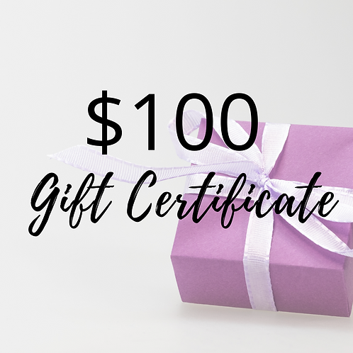 $100 Value Gift Certificate
