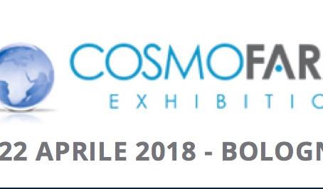 Cosmofarma 2018 dal 20 al 22 Aprile 2018. Vi aspettiamo al Pad.26 - STAND B19a-C20a