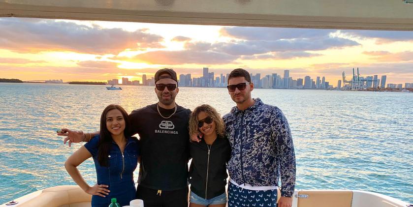 Yatch cruise customers