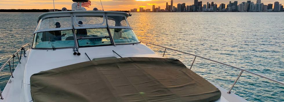 Yatch cruise sunset