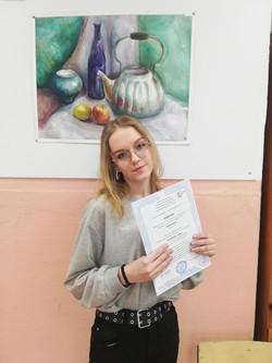 Калиберда Кира - призёр Всероссийского конкурса иллюстраций Вдохновение