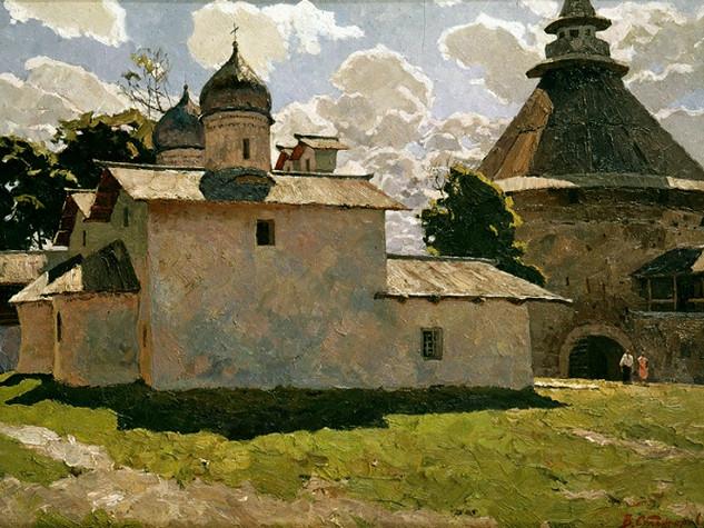 Стожаров - Псков. Покровская церковь и Покровская башня.