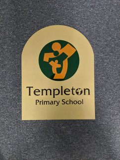 Templeton - Sublimated and Custom Cut Indoor Plaque