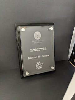 Forest Hill College - Athlete of the Year Plaque