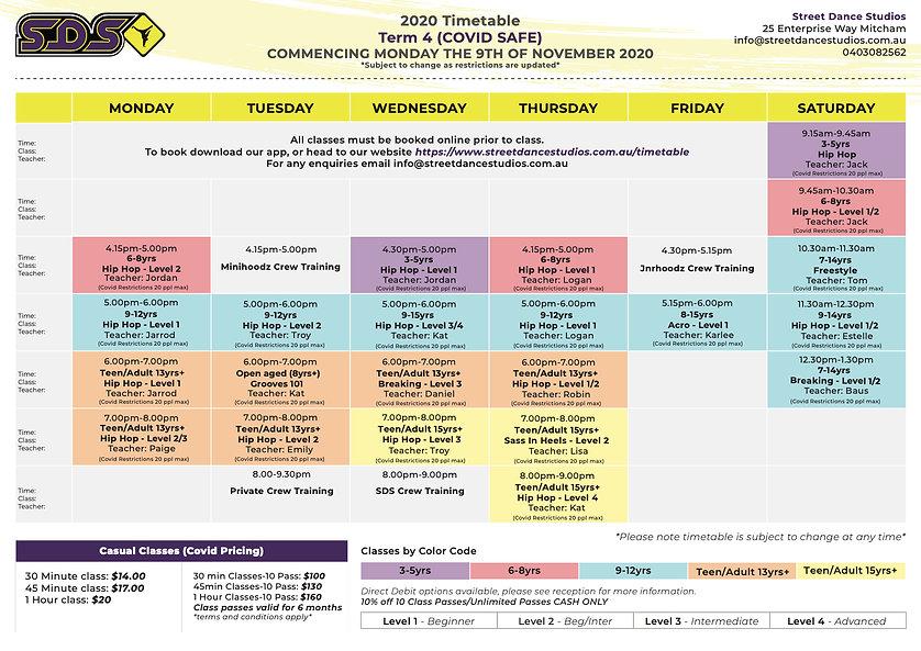 22nd Nov revised sds-timetable-2020-04-t