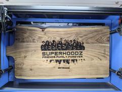 Superhoodz - Laser Engraved Cheese Board