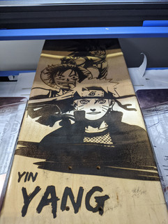 Yin Yang - Laser Engraved Skateboard