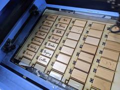 K & D Wedding - Laser Engraved Personalised Keychains