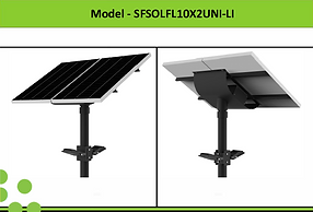 Solar Street Lights | South Africa | 2x10W Solar LED Flood Light