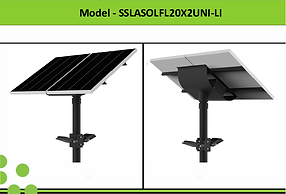 Solar Street Lights | South Africa | 2x20W Solar LED Flood Light