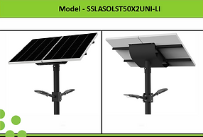 Solar Street Lights | South Africa | 50W x 2