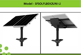 Solar Street Lights | South Africa | 2x80W Solar LED Flood Light