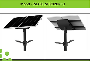 Solar Street Lights | South Africa | 80W x 2