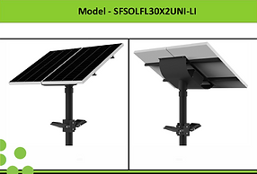 Solar Street Lights | South Africa | 2x30W Solar LED Flood Light