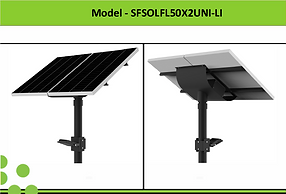 Solar Street Lights | South Africa | 2x50W Solar LED Flood Light