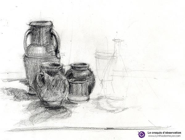 Croquis de présentation - Pots - Cynthia Dormeyer
