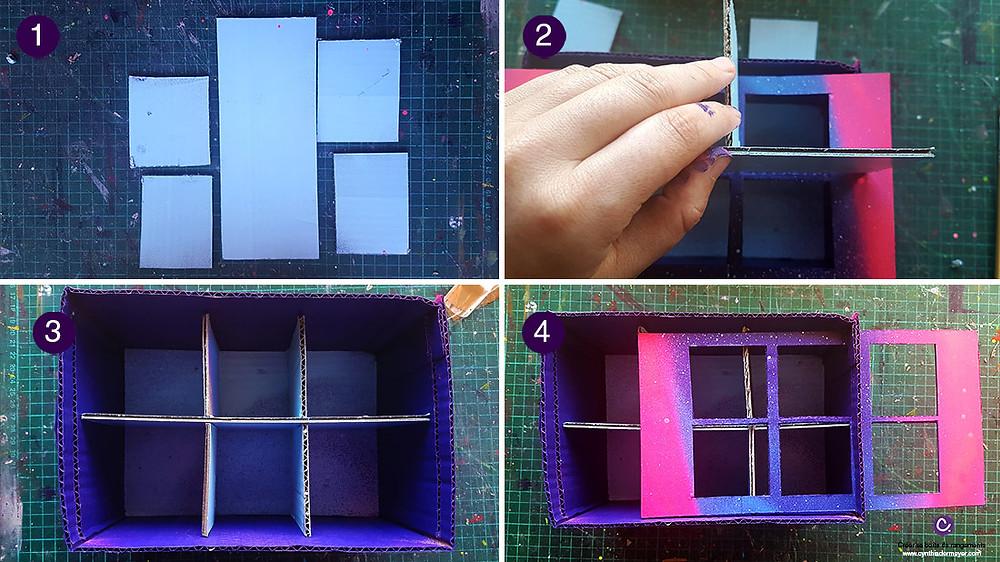Créer une boîte de rangement en carton pour marqueurs avec compartiments