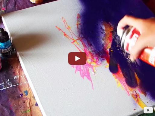 Réaliser une peinture fluo à la lumière noire