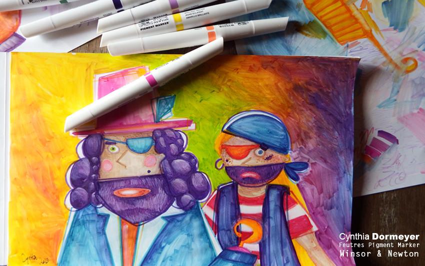 Dessiner au feutre Pigment Marker Winsor et Newton - Cynthia Dormeyer
