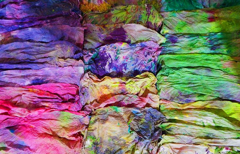 Chiffons colorés