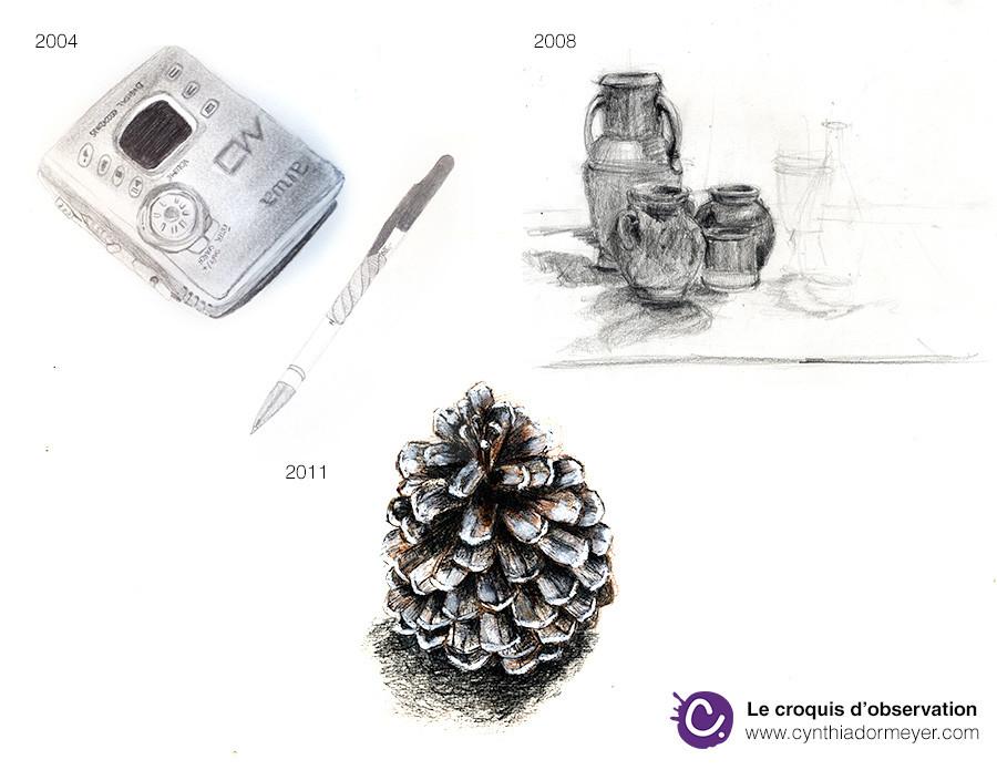 L'évolution des croquis de 2004 à 2011 - Cynthia Dormeyer