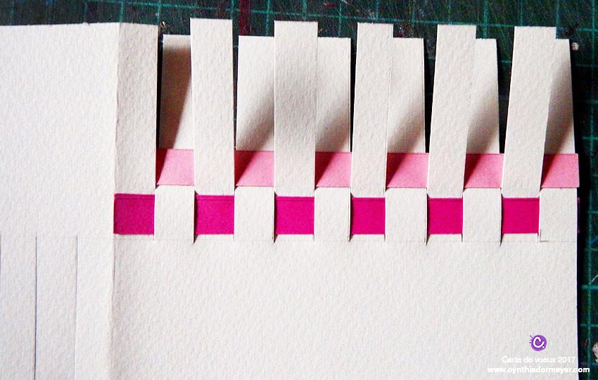 Etape 3 Insertion des bandes colorées
