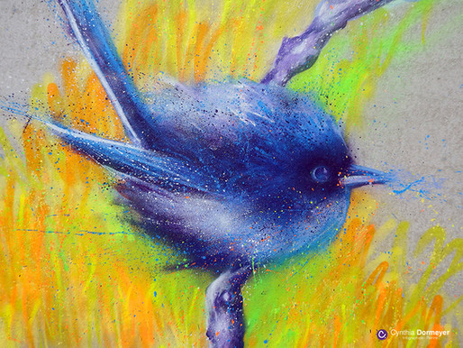 Créer un oiseau à la peinture aérosol