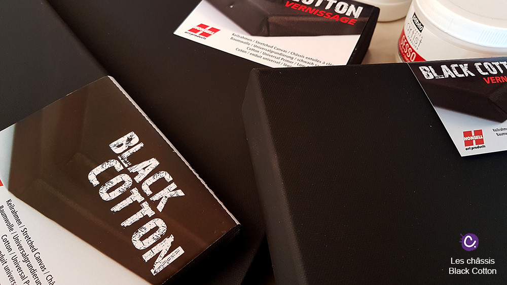 Châssis entoilé Black Cotton Honsell