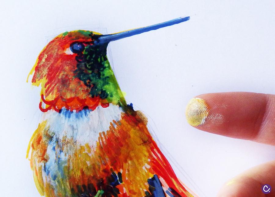 Fondre les couleurs au doigt