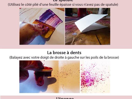 Créer des effets de peinture avec les objets du quotidien
