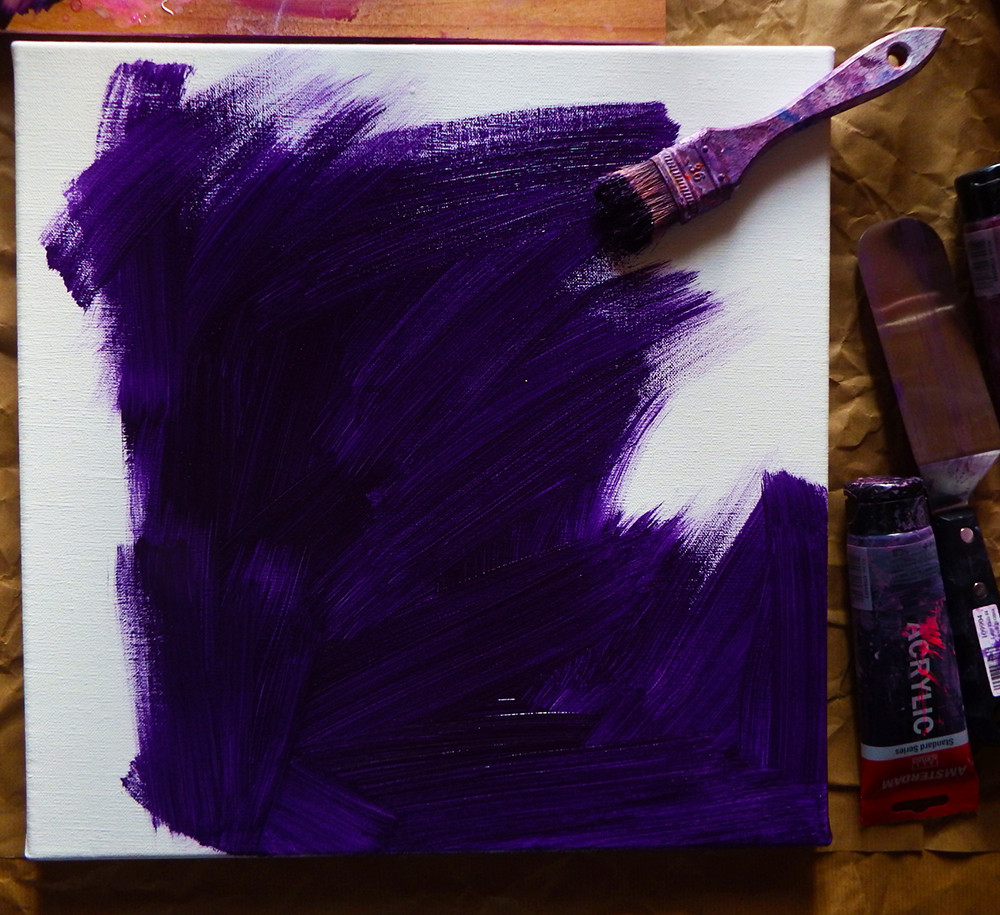 Création du fond en violet foncé