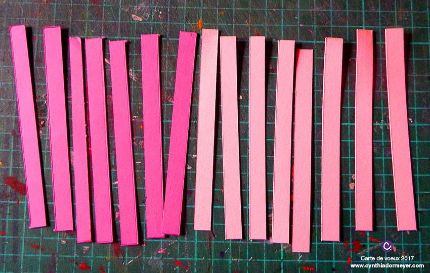 Etape 2 Couper les bandes de couleurs