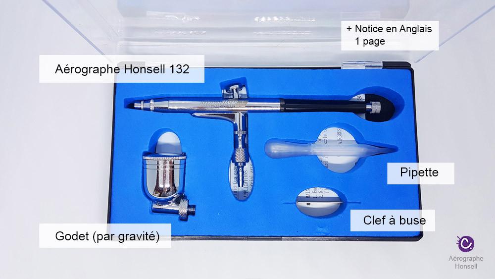 Présentation du pistolet aérographe Honsell 132