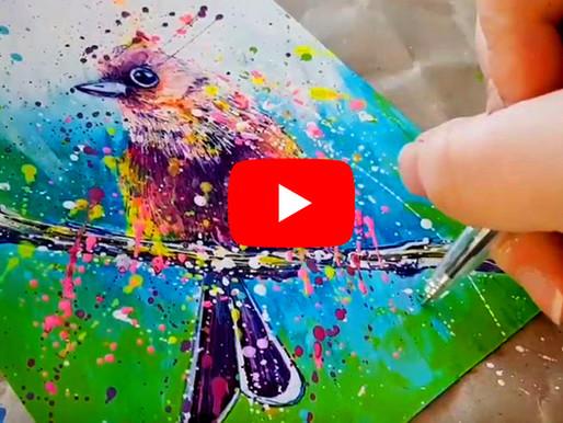 Démonstration d'un oiseau pour le Twitter Art Exhibit 2019