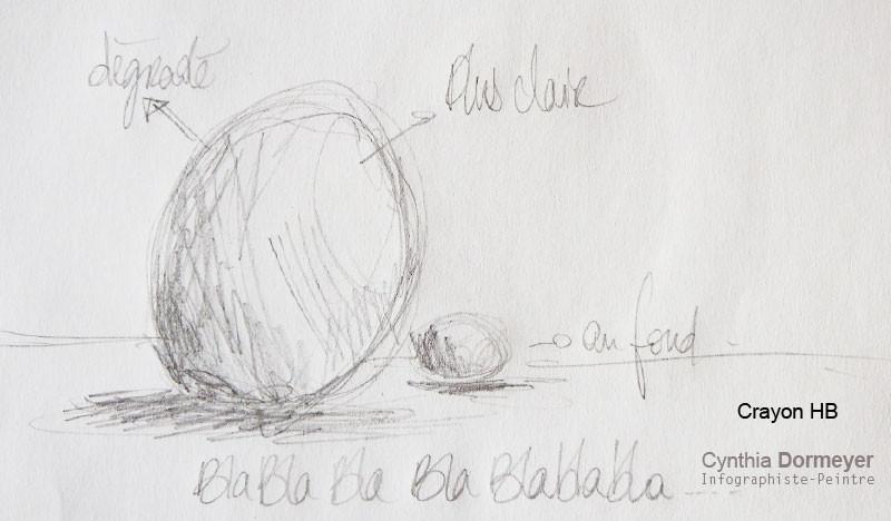 Exemple Dessin au crayon HB