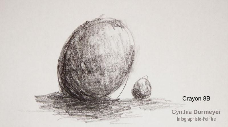 Exemple Dessin au crayon 8B