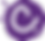 logo rond violet avec un c blanc au centre